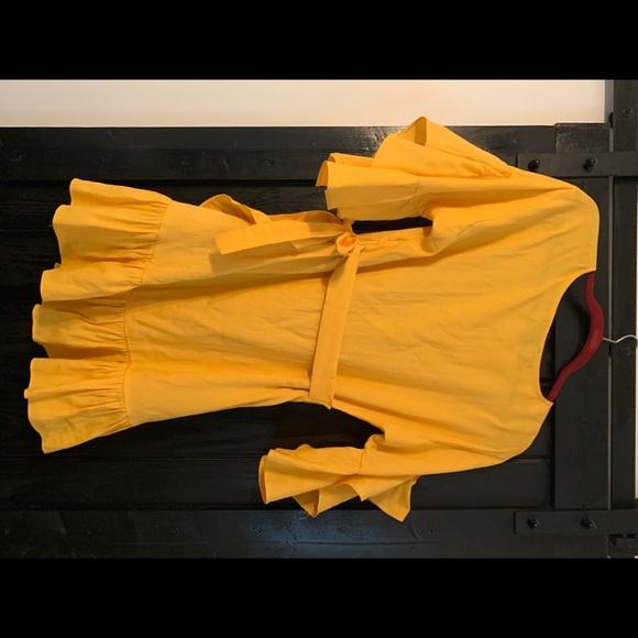 Forever 21 Dresses & Skirts - Forever 21 Yellow Wrap Dress - Medium
